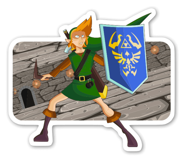 Link Boss Fight  sticker
