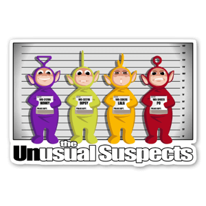 The Unusual Suspect sticker