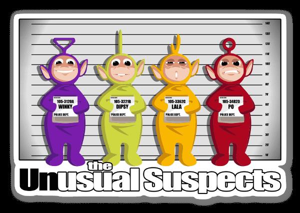 Unusual Suspect sticker