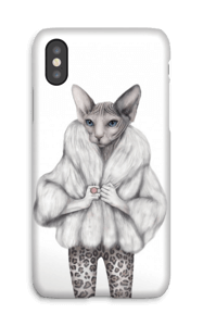 Miss purrrr-fect Coque  IPhone X
