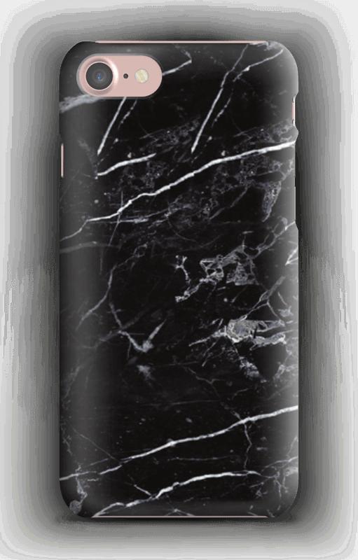Svart marmor deksel IPhone 7