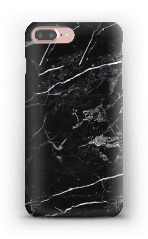 Svart marmor deksel IPhone 7 Plus