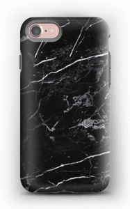 Svart marmor deksel IPhone 7 tough