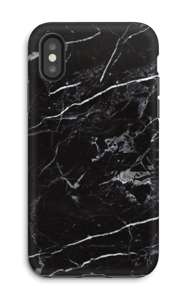 Zwart marmer hoesje IPhone X tough