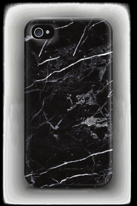 Svart marmor deksel IPhone 4/4s