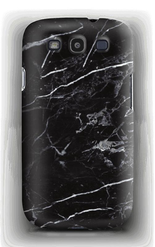 Svart marmor deksel Galaxy S3