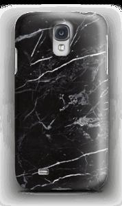 Svart marmor deksel Galaxy S4