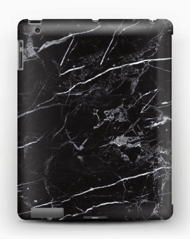 Musta marmori kuoret IPad 4/3/2