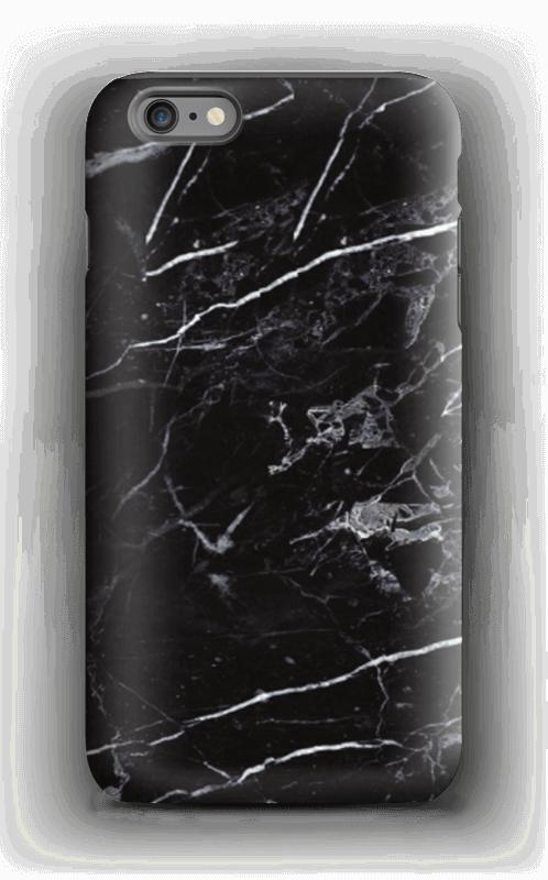 Svart marmor deksel IPhone 6 Plus tough
