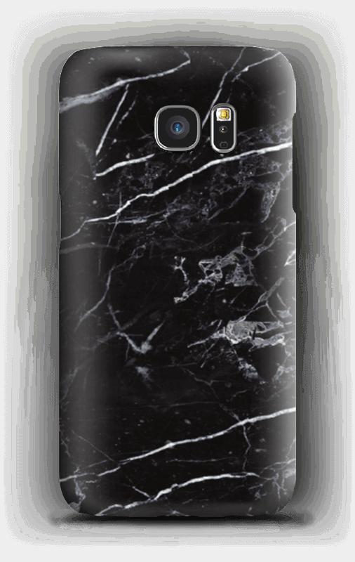 Svart marmor deksel Galaxy S7