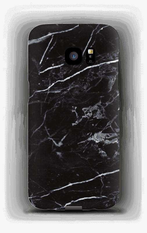 Svart marmor deksel Galaxy S7 Edge