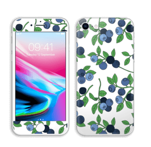 Blueberries everywhere ! skin IPhone 8