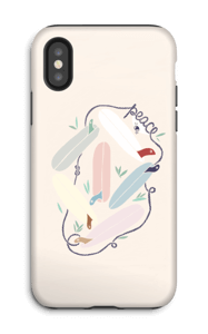 Peace and Surf cover IPhone X tough