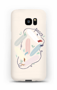 Peace and Surf cover Galaxy S7 Edge