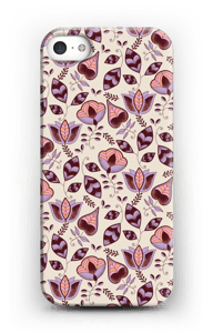 Lillablom deksel IPhone SE