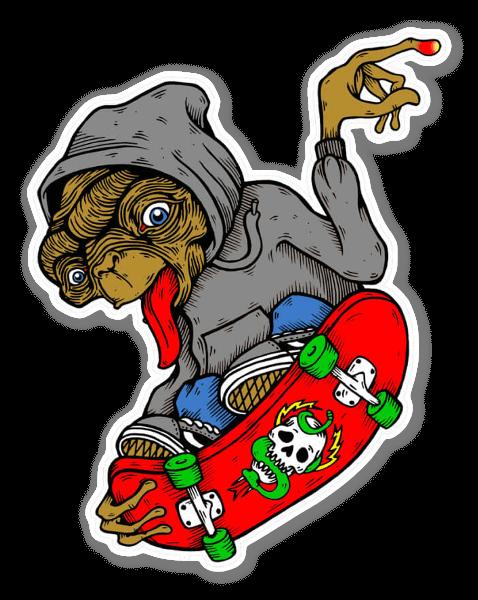 ET Skater  sticker