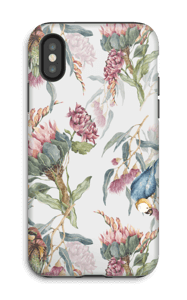 Paratiisilinnut ja valkoinen tausta kuoret IPhone X tough