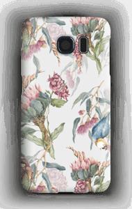 Paratiisilinnut ja valkoinen tausta kuoret Galaxy S6
