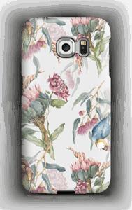 Paratiisilinnut ja valkoinen tausta kuoret Galaxy S6 Edge