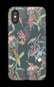 Paratiisilinnut ja tumma tausta kuoret IPhone X tough
