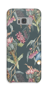 Paratiisilinnut ja tumma tausta kuoret Galaxy S8 Plus