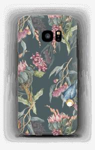 Paratiisilinnut ja tumma tausta kuoret Galaxy S7 Edge