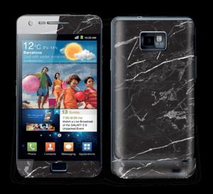 Svart Marmor Skin Galaxy S2