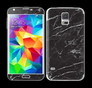 Svart Marmor Skin Galaxy S5