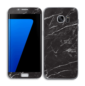 Black Marble Skin Galaxy S7 Edge