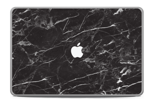 "Black Marble Skin MacBook Pro 17"" -2015"