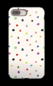 Täplät kuoret IPhone 8 Plus tough