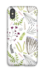 Blomster og blade cover IPhone X