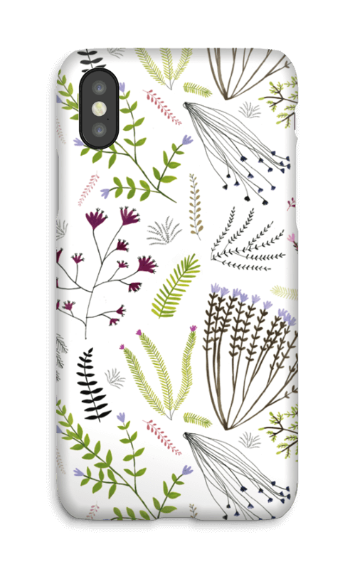 Blomster & blad deksel IPhone X