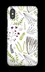 Flores y hojas funda IPhone XS