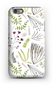 Blomster & blad deksel IPhone 6 Plus tough
