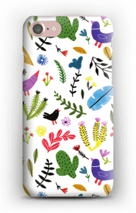 Fåglar bland blommor skal IPhone 7
