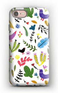 Birds with Flowers case IPhone 7 tough