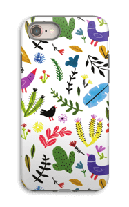 Birds with Flowers case IPhone 8 tough