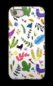 Fugler blant blomster deksel IPhone 8 tough