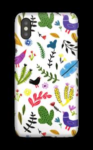 Fugler blant blomster deksel IPhone X