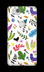 Vögel zwischen Blumen Handyhülle Pixel 2