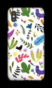 Uccelli tra i fiori cover IPhone XS Max