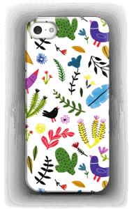 Linnut kukkien keskellä kuoret IPhone 5/5S