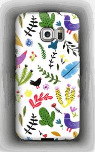 Fugle og blomster cover Galaxy S6 Edge