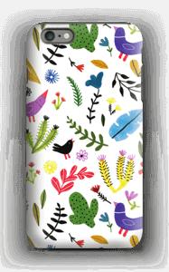 Birds with Flowers case IPhone 6 Plus tough