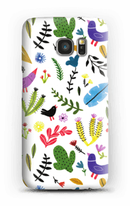 Birds with Flowers case Galaxy S7