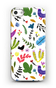 Birds with Flowers case IPhone SE