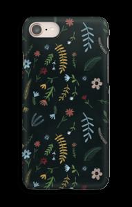 Tummat kukat kuoret IPhone 8