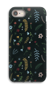 Flowers in the dark case IPhone 8 tough