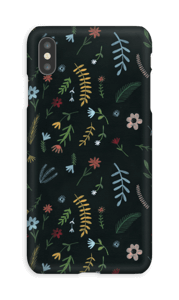 Fiori nell'oscurità cover IPhone XS Max